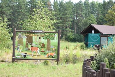 Na zdjęciu widać ścieżkę przyrodniczą w miejscowości: Grochowa