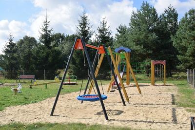 Na zdjęciu widać plac zabaw w miejscowości: Kałowice