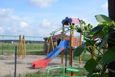Na zdjęciu widać plac zabaw w miejscowości: Pstrzejowice