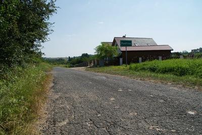 Widok na drogę w miejscowości Radłów